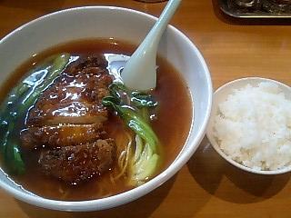 らーめん茶蘭 パイコウメン+ライス.JPG