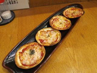 たんぽぽ 自家製トマトソースのミニピザ.JPG