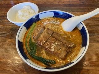 支那麺はしご新小岩店 排骨担々麺+ライス