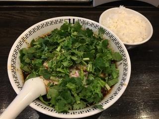 卍力 スパイス・ダブルパクチーラー麺+小ライス