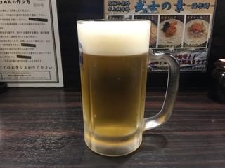 麺屋武士道 生ビール