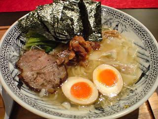 らーめん中村屋海老名 特中村屋しお+真空平打麺1.JPG