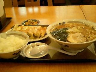 中華食堂やぐら ラーメンセット.JPG