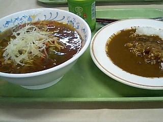 東大 チンジャオラーメン&カレー.JPG