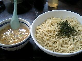 麺屋 筑波 つけ麺卵とじ醤油特盛り.JPG