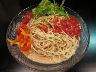 虎二 ゴマとトマトのWソース冷し麺.JPG