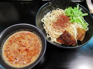 虎二 辛味噌のつけ麺.JPG
