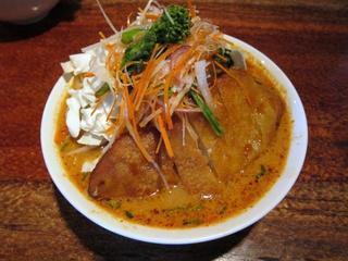 酒と肴と麺の店/田村屋 爆菜味噌豚タンメン1.JPG
